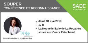 31 mai 2018 – Souper conférence et reconnaissance