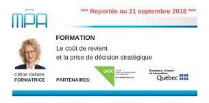 Formation MPA : Le coût de revient et la prise de décision stratégique