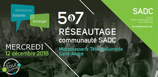 12 décembre 2018 – 5 à 7 Réseautage SADC