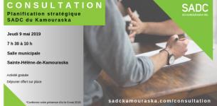 9 mai 2019 – Consultation pour la planification stratégique 2019-2022 de la SADC du Kamouraska