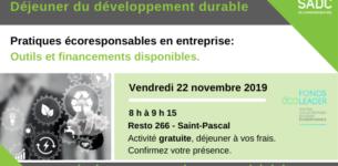 22 novembre 2019 – Déjeuner du développement durable