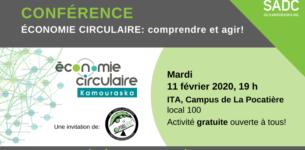11 février 2020 – Conférence sur l'économie circulaire: comprendre et agir!