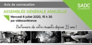 8 juillet 2020 – Assemblée générale annuelle de la SADC du Kamouraska