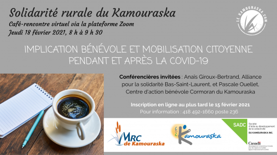 CAFÉ-RENCONTRE virtuel de Solidarité rurale du Kamouraska
